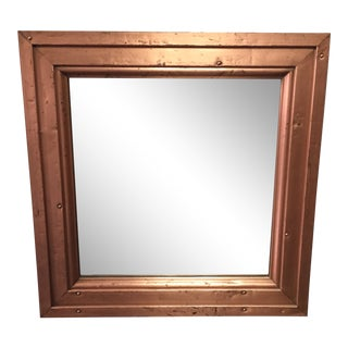 1980s Distressed Copper Mirror For Sale