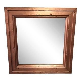 Distressed Copper Mirror For Sale