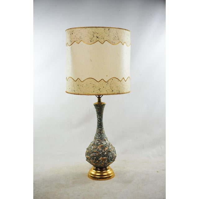 Mid-Century Modern Ceramic Textured Table Lamps - a Pair For Sale - Image 4 of 11