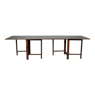 "1970s Mid Century Modern Rosewood Gateleg Dining Table After Bruno Mattsson's ""Maria"" Table For Sale"