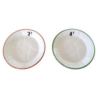French Bistro Plates - Pair For Sale