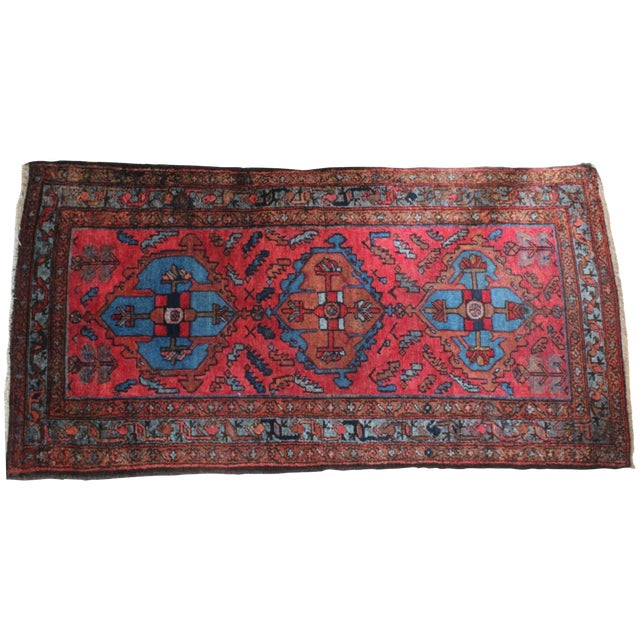 Antique Persian Rug - 3′1″ × 6′3″ - Image 1 of 4
