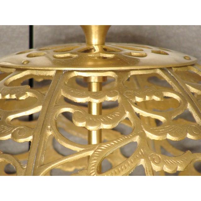 Vintage Brass Globe Light - Image 5 of 6