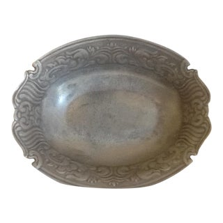 1980s Vintage Pewter Bowl Server Wilton Armetale Juan Vela Studio For Sale