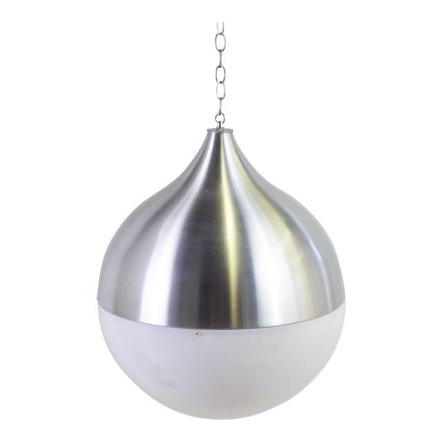 1960s Danish Modern Aluminun & Acrylic Teardrop Shaped Globe For Sale