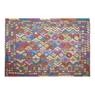 "Colorful Geometric Maimana Kilim - 6'5"" x 9'8"" For Sale"