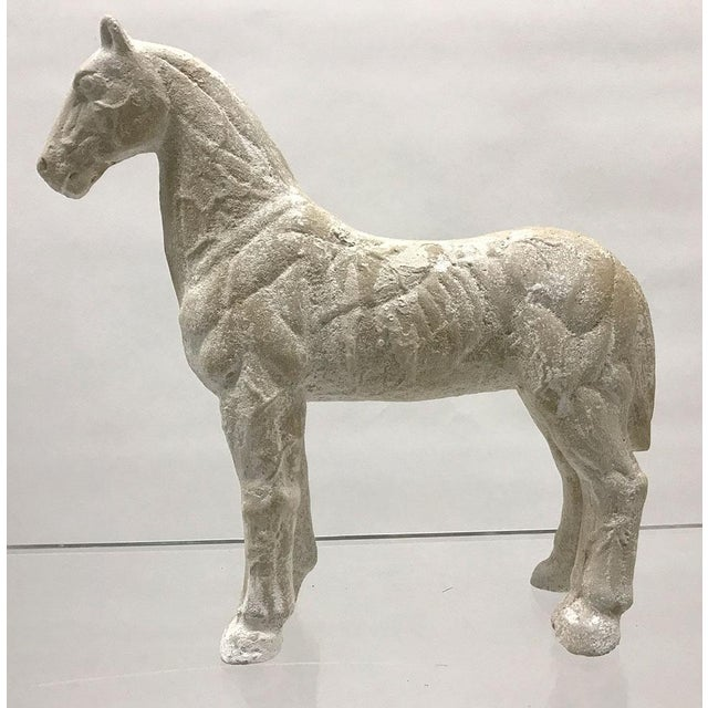 1980s Mid-20th Century Vintage Plaster Model of Horse For Sale - Image 5 of 9