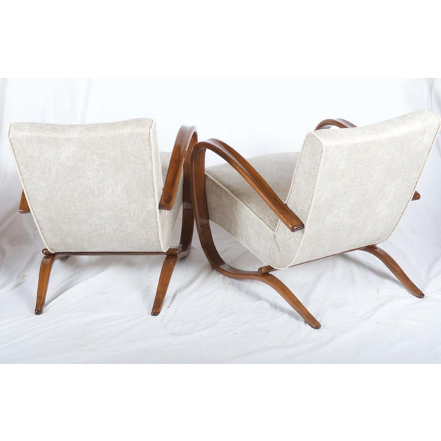 H269 Lounge Chair by Jindrich Halabala for Thonet, 1930s - A Pair For Sale - Image 6 of 11