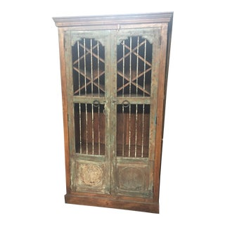 Boho Chic Indian Wine and Storage Cabinet For Sale