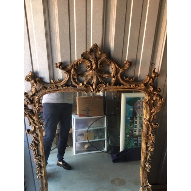 1970s Vintage Milch Carved Giltwood Mirror For Sale - Image 10 of 13