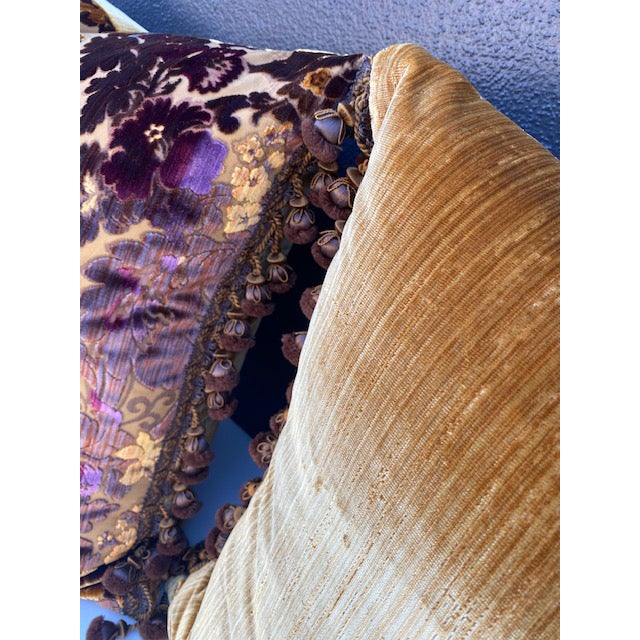 Silk Luigi-Bevilacqua Silk Velvet Pillows - A Pair For Sale - Image 7 of 9