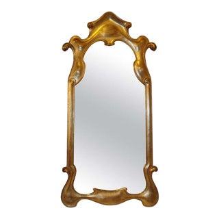 Sleek Design Modern Hollywood Regency Style Gilt Mirror For Sale