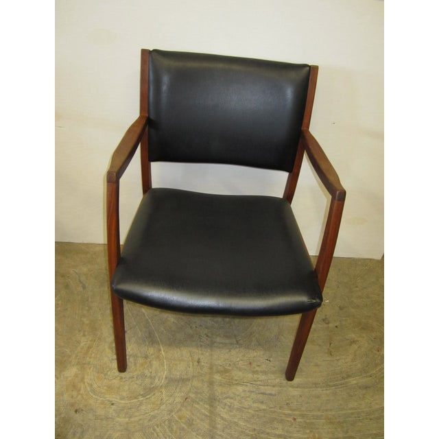 Jens Risom Mid Century Side Arm Chair Pair - Image 6 of 9