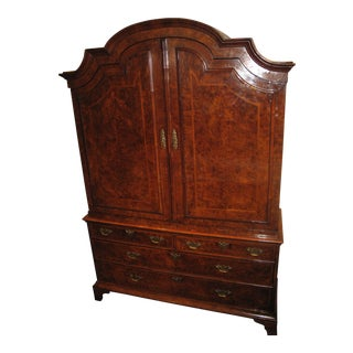 Incredible George I Burl Walnut Bureau Bookcase, circa 1720 For Sale