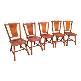 Heywood Wakefield Priscilla Flat Bone Back Chairs - Set of 5