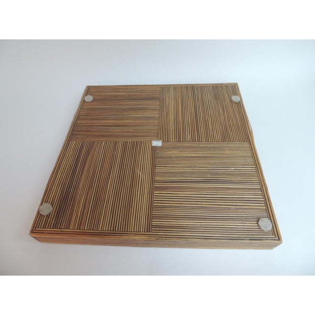 Large Square Bamboo Serving Tray - Image 5 of 6