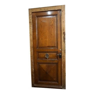 Late 19th Century Single Oak Entry Door with Iron Knocker, Circa 1880 For Sale