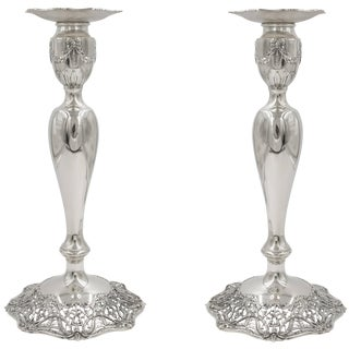 Black Starr and Frost Candlesticks For Sale