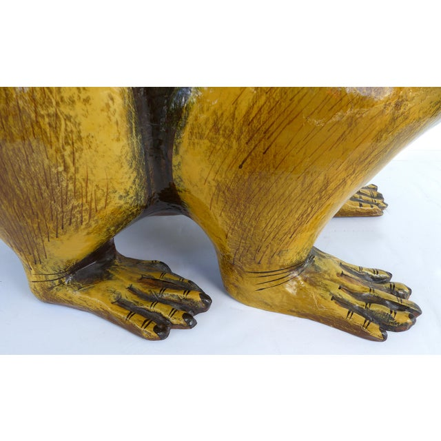 Paper Papier Mache Raccoon Sculpture by Sergio Bustamante For Sale - Image 7 of 9