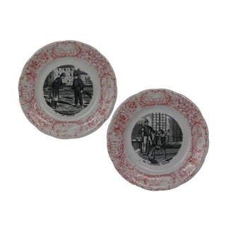 Antique French Military Plates - A Pair For Sale
