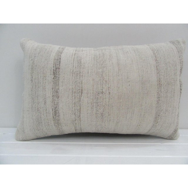 Vintage Handmade Natural Turkish Kilim Pillow Cover For Sale - Image 4 of 4