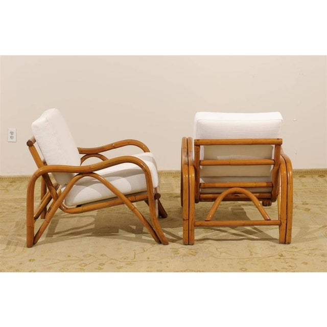 1950s Fantastic Pair of Restored Vintage Modern Rattan Loungers For Sale - Image 5 of 8