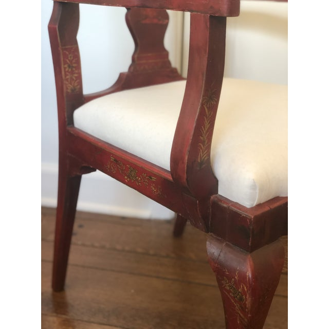19th Century Red Japanese Arm Chair For Sale In Memphis - Image 6 of 7