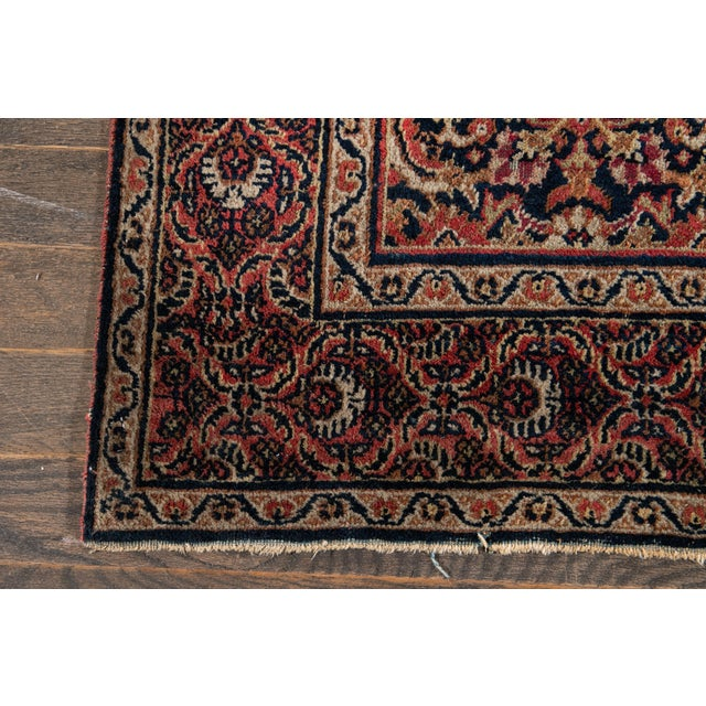 Textile Vintage Persian Wool Rug 3'10'' X 6'4'' For Sale - Image 7 of 11