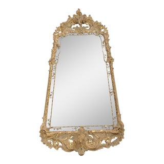 Antique Italian Hand-Carved Wood Mirror