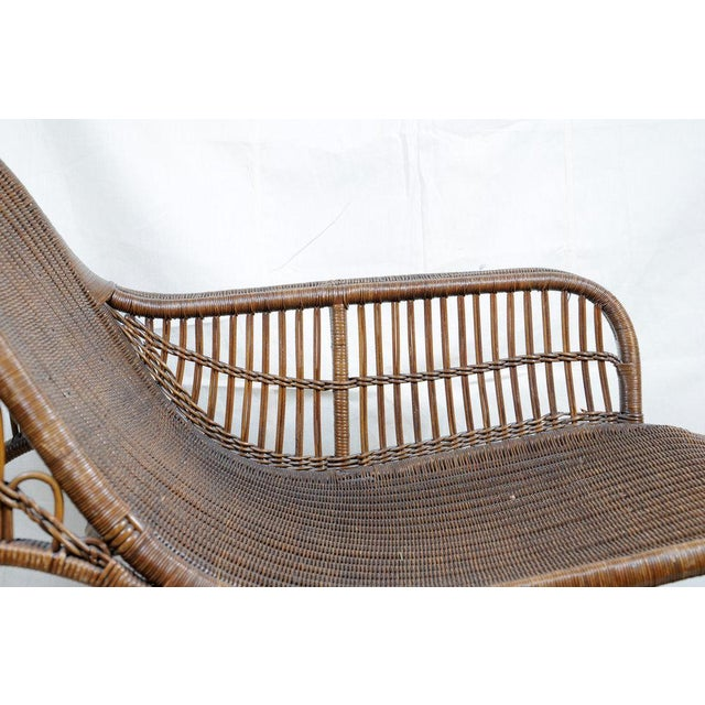 Harry Peach Company Drayad Registered Wicker Chaise, Accent Piece, Lounge, Room Accessory For Sale In Seattle - Image 6 of 8