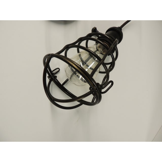 Formation Style Industrial Cage Pendant Light - Image 3 of 4