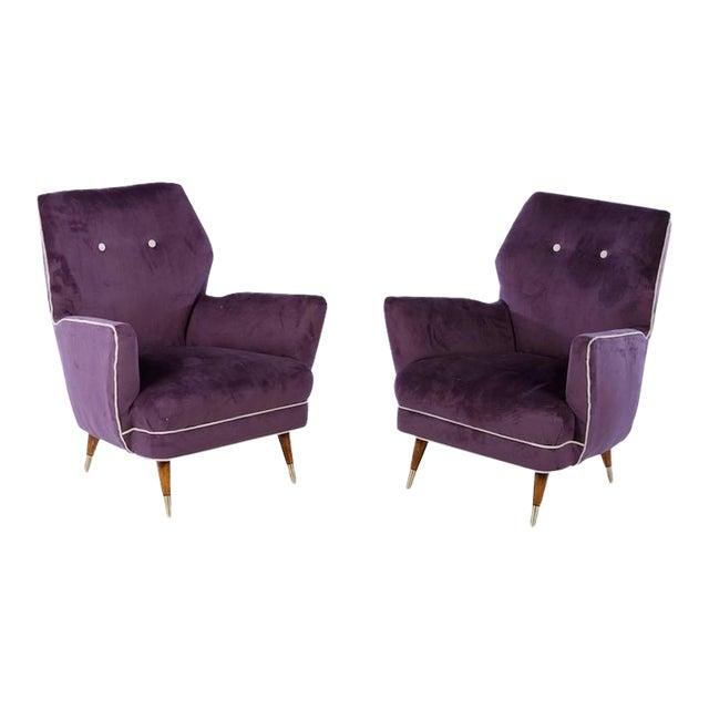 Circa 1960 Italian Mid Century Modern Club Chairs - A Pair For Sale