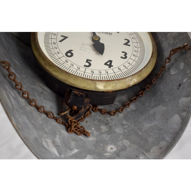 Vintage Detecto Hanging Mercantile Scale with Steel Scoop For Sale - Image 9 of 11