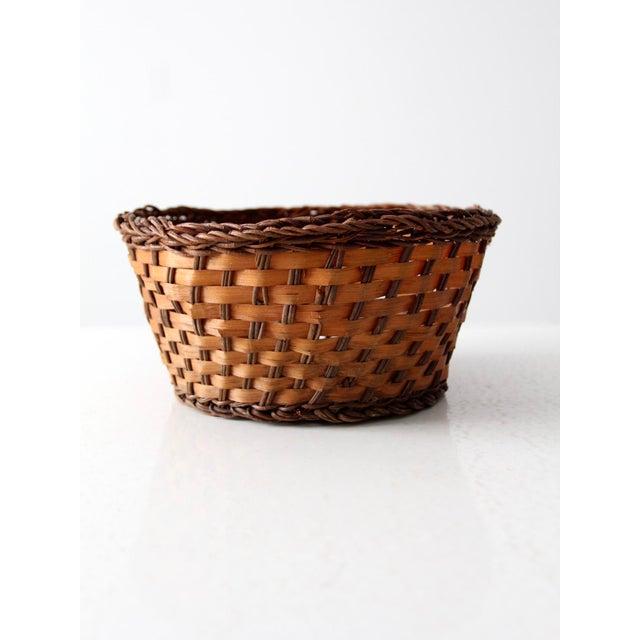 Farmhouse Vintage Woven Basket Bowl For Sale - Image 3 of 7