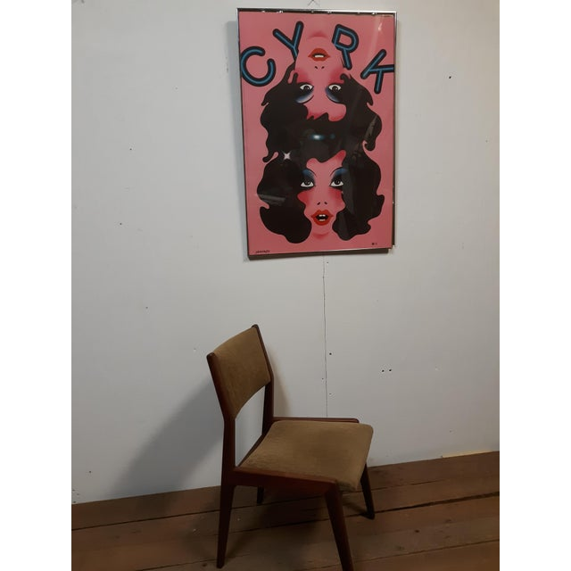 Metal 1974 Cyrk Conjoined Girls Original Poster by Witold Jnowski From Poland, Framed For Sale - Image 7 of 8