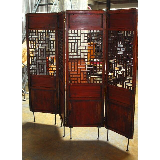 Metal 19th Century Lattice Panel Screen For Sale - Image 7 of 9