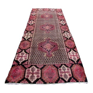 1970s,. Handmade Antique Persian Malayer Rug 4.4' X 10.9' For Sale