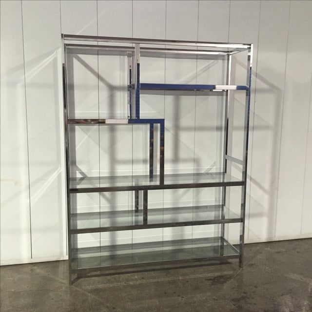 Milo Baughman for Dia Chrome & Glass Etagere For Sale In Los Angeles - Image 6 of 6