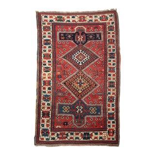 Antique Caucasian Kazak Area Rug circa 1900 For Sale