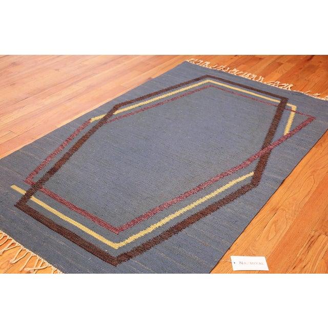 Vintage Swedish Kilim Rug by Brita Grahn For Sale In New York - Image 6 of 7