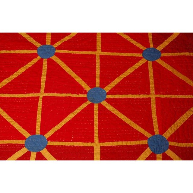 Folk Art Folky and Early 20th Century Afro-American Quilt from Alabama For Sale - Image 3 of 7