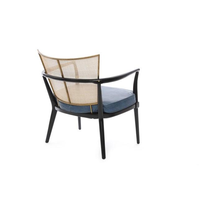 Bert England 1950s Bert England for Johnson Ebonized Lounge Chair For Sale - Image 4 of 7