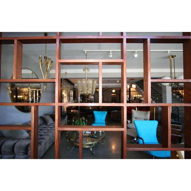 Mid Century Modern Geometric Room Divider For Sale - Image 4 of 8