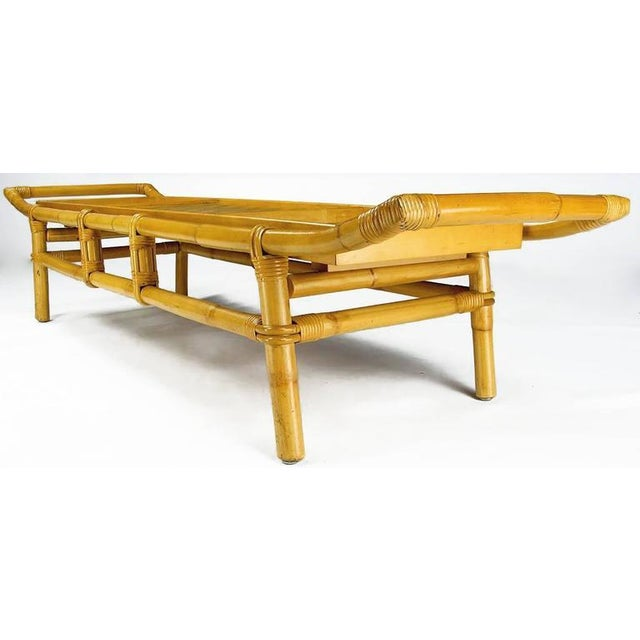 John Wisner Long and Low Pagoda Form Bamboo Coffee Table - Image 3 of 6
