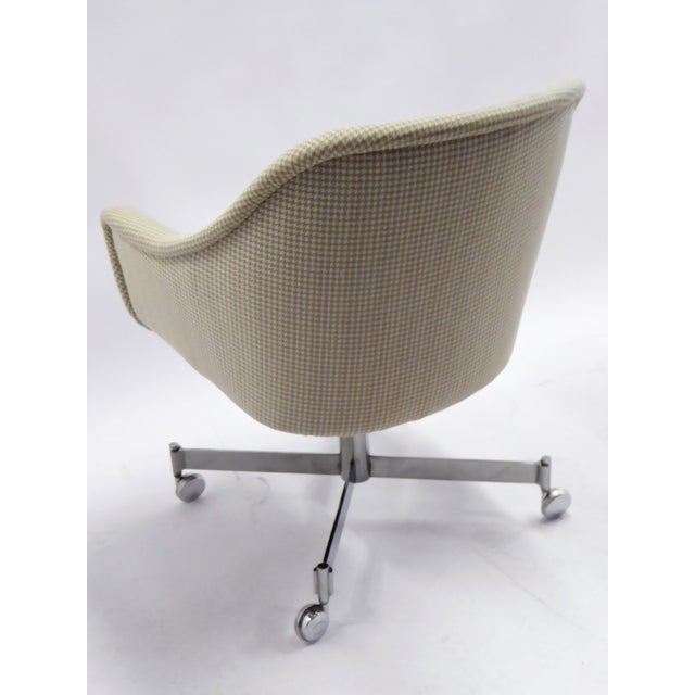 1960s Ward Bennett for Brickel Associates,Bumper Office Desk Armchair on Casters. For Sale - Image 5 of 12