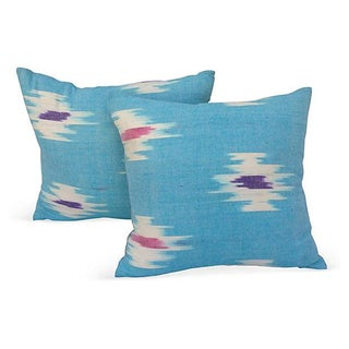 Southwestern Ikat Pillows - Pair For Sale