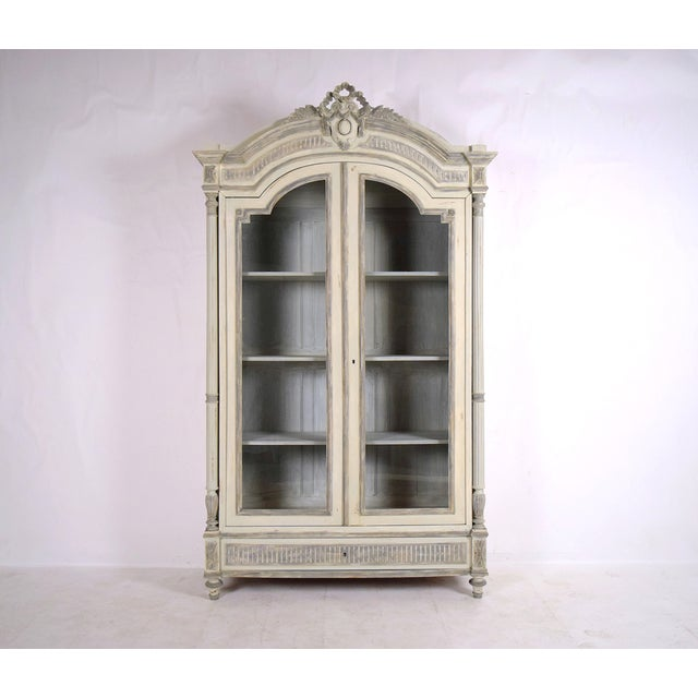 French Louis XVI Armoire-Style Bookcase - Image 2 of 10