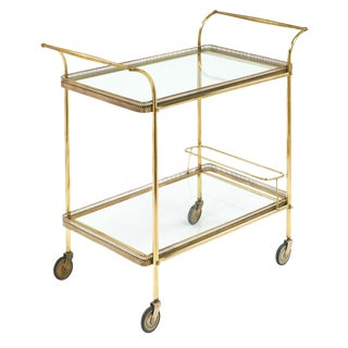 Vintage French Art Deco Bar Cart