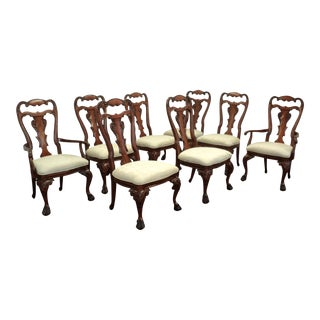 Cherry Chippendale Style Dining Room Chairs - Set of 8