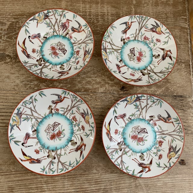Ceramic Antique English Minton Appetizer Bowls Trinket Dishes - Set of 4 For Sale - Image 7 of 7
